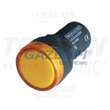 TRACON LJL22-YA LED-es jelzőlámpa, sárga 12V AC/DC, d=22mm világítás