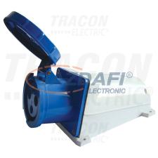 TRACON TICS-143 Felületre szerelhető ipari csatlakozóaljzat 125A, 250V, 2P+E, 6h, IP67 villanyszerelés