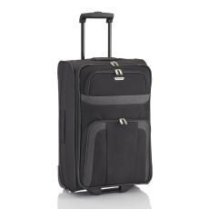 TRAVELITE ORLANDO M fekete kétkerekű közepes bőrönd