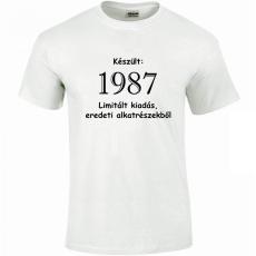 Tréfás póló 30 éves, Készült 1988... (XXL)