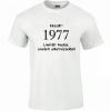 Tréfás póló 40 éves, Készült 1977... (XL)