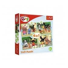 Trefl puzzle és társasjáték Bing nyuszi négy az egyben Trefl puzzle társasjáték