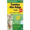 Trentino - Alto Adige térkép - TCI