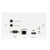 Triax ORX 1V Ethernet-HDMI vevő előlapi; Receiver Outlet Plate with HDBaeT 5 Play