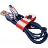 TRIBE Marvel Captain America Apple Iphone lightning adatkábel, 1,2m, MFI engedélyes