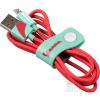 TRIBE Vespa adatkábel microUSB, 1,2m Aquamarine, piros