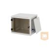 """TRITON RUA-09-AS4 9U magas 19""""-os 395mm mély fali rack szekrény, levehető és zárható oldalfalakkal"""