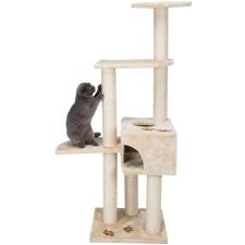 Trixie Alicante macskabútor kaparófával és bújóval (Bézs; Alapzat: 45x 45cm; Magasság: 142 cm; Kaparórúd: ø 9cm) macskafelszerelés