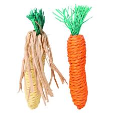 Trixie Fogkoptató Szalma Rágcsálóknak Kukorica És Répa 2db 15cm játék rágcsálóknak