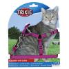 Trixie Hám és póráz macska nylon 26-37cm/10mm 1,2m