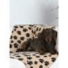 Trixie plüss pléd kis kutyák és kis macskák számára 100x70cm szín fekete csontos mintával 37192