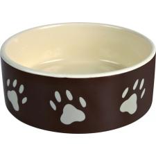 Trixie Tál kerámia tappancs mintás 0.8l/160.8l/16cm barna/krém kutyatál