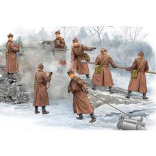 TRUMPETER Soviet B-4 Howitzer Artillery Crew figura makett Trumpeter 00427 makett figura