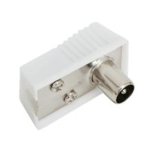 TV koax dugó 90°-os standard kivitel audió/videó kellék, kábel és adapter