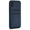 Twelve South Relaxed Leather Case with Pockets for iPhone X kék