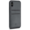 Twelve South Relaxed Leather Case with Pockets for iPhone X szürke