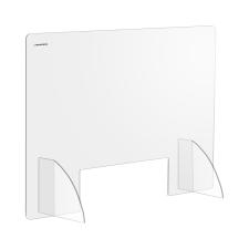 Uniprodo Akril védőfal - 95 x 65 cm - akrilüveg - 30 x 10 cm-es nyílás akrilfesték