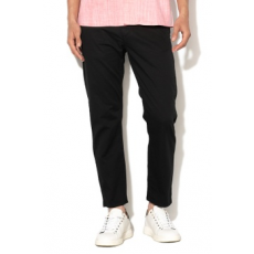 United Colors of Benetton , Slim fit chino nadrág, Fekete, 48 (4L8A55EI8-100-48)