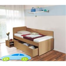 Univerzális ágy ágyneműtartóval, bükkfa, 90x200 cm, OTO ágy és ágykellék
