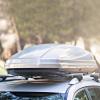 Univerzális, autós tetőbox, ezüst