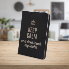 "Univerzális kinyitható tablet tok, 7-8"", Keep Calm tablet tok"