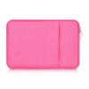"""Univerzális laptop táska, 15""""-os készülékhez, nagy oldal zseb, bújtatós, Iralan, rózsaszín"""