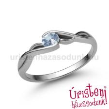 Úristen, házasodunk! E104FK - AKVAMARIN fehér arany Eljegyzési Gyűrű gyűrű