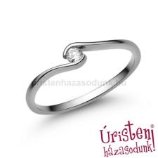 Úristen, házasodunk! E105FZF - FEHÉR ZAFÍR  köves fehér arany Eljegyzési Gyűrű gyűrű