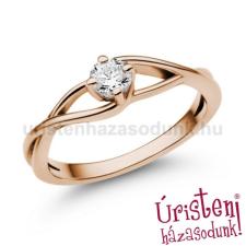 Úristen, házasodunk! E120RB35 - GYÉMÁNT: 0,35ct (4,5mm Ø) Eljegyzési Gyűrű gyűrű