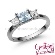 Úristen, házasodunk! E201FK_B - AKVAMARIN - GYÉMÁNT Eljegyzési gyűrű gyűrű