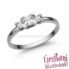 Úristen, házasodunk! E316FC - CIRKÓNIA köves fehér arany Eljegyzési Gyűrű gyűrű