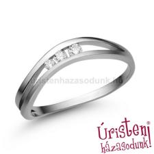 Úristen, házasodunk! E329FZF - FEHÉR ZAFÍR KÖVES Eljegyzési gyűrű gyűrű