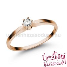 Úristen, házasodunk! E331RC - CIRKÓNIA köves rozé arany Eljegyzési Gyűrű gyűrű