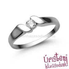 Úristen, házasodunk! E332FC - CIRKÓNIA köves fehér arany Eljegyzési Gyűrű gyűrű