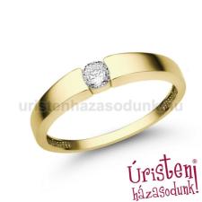 Úristen, házasodunk! E345SC - CIRKÓNIA köves sárga arany Eljegyzési Gyűrű gyűrű