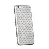 USAMS Apple iPhone 6, Műanyag hátlap védőtok, USAMS Starry Twinkle, csillagminta, ezüst