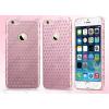 USAMS Apple iPhone 6 Plus, Műanyag hátlap védőtok, USAMS Starry Twinkle, csillagminta, rózsaszín