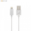 USB töltő- és adatkábel, Lightning, 100 cm, MFi Apple engedélyes, Forever, fehér