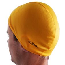 Úszósapka polieszter - Sárga - elasztikus textil úszófelszerelés