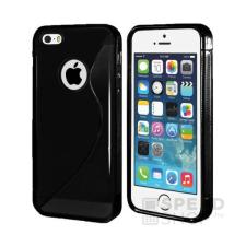 utángyártott Apple iPhone SE/5/5S szilikon tok S-line, fekete tok és táska