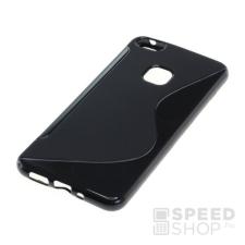 utángyártott Huawei P10 Lite szilikon tok S-line, fekete tok és táska