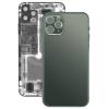 utángyártott Iphone 11 Pro Max hátlap / akkumulátor fedél, logóval, szürkés-zöld