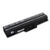 utángyártott Sony Vaio VGN-FW11M, VGN-FW11S fekete Laptop akkumulátor - 4400mAh