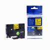 Utángyártott szalag Brother TZ-611 / TZe-611, 6mm x 8m, fekete nyomtatás / sárga alapon