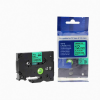 Utángyártott szalag Brother TZ-731 / TZe-731, 12mm x 8m, fekete nyomtatás / zöld alapon