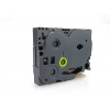Utángyártott szalag Brother TZ-D11/TZe-D11, rikítós 6mm x 8m, fekete nyomtatás/zöld alapon