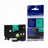 Utángyártott szalag Brother TZ-D41/TZe-D41, rikítós 18mm x 8m, fekete nyomtatás/zöld alapon