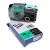 Utángyártott szalag Casio XR-18GN1, 18mm x 8m fekete nyomtatás / zöld alapon