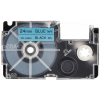 Utángyártott szalag Casio XR-24BU1, 24mm x 8m fekete nyomtatás / kék alapon