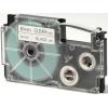 Utángyártott szalag Casio XR-6X1, 6mm x 8m fekete nyomtatás / átlátszó alapon